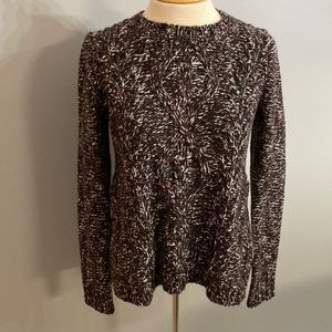 Madewell Firelight Marled Maroon Cable Knit Sweater Pullover Small Slits